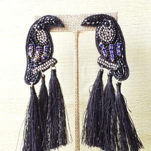 Black bird earrings, womens fashion jewelry
